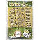 45 Rubber Sheets & Stand Set - Totoro & Chu & Sho & Nekobus & Kurosuke & Mei - made in Japan (new)