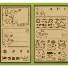 13 Stamps Set -Wooden Tray-made in Japan- Totoro & Chu & Sho & Nekobus & Kurosuke(new)