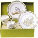 4 Piece Set -2 Cup & 2 Plate (M) - Bone China - Noritake - Totoro (new)