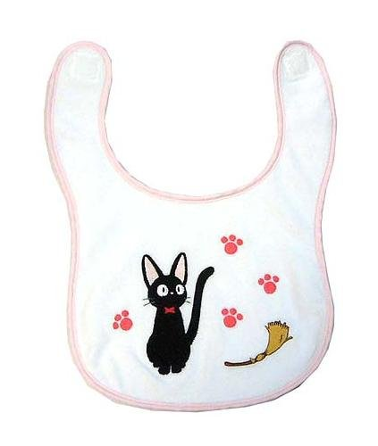 Baby Bib- Jiji & Footprint & Broom - Kiki's Delivery Service - Ghibli (new)