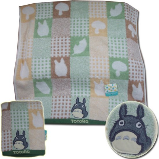 Ghibli - Totoro - Bath Towel - Totoro Applique - fuwa - green - out of production - RARE (new)