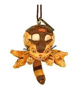Ghibli - Totoro - Nekobus - Strap - Wood Carving like - 2006 (new)