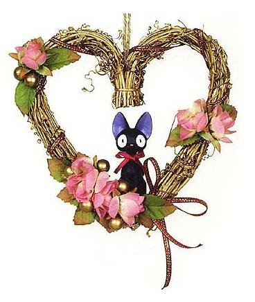 Ghibli - Kiki's - Jiji - Wreath - Heart (new)