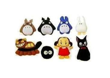 15% OFF - 8 Magnet - Totoro (gray & dark gray) & Chu & Sho & Nekobus & Mei & Kurosuke & Jiji (new)