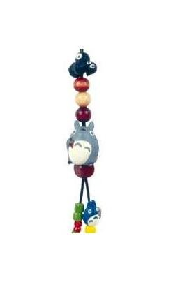 Ghibli - Totoro & Chu Totoro & Kurosuke - Beads & Synthetic Leather Strap - grape (new)