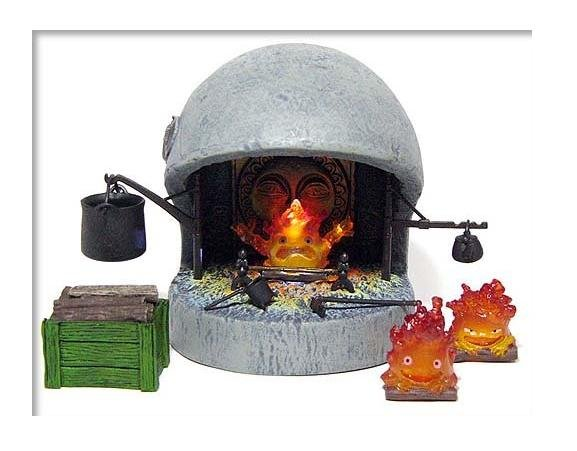1 left - Calcifer Fireplace Figure LED - Cominica - Howl's Moving Castle - no production (new)