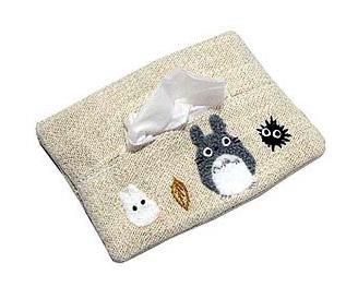 Pocket Tissue Cover - Totoro Applique - Totoro & Sho Totoro & Makkuro Kurosuke - Ghibli - 2006 (new)