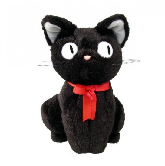 Plush Doll (M) - H23cm - Sitting Jiji - Kiki's Delivery Service - Ghibli - Sun Arrow (new)