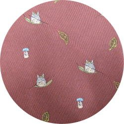 Ghibli - Totoro & Sho Totoro - Necktie - Silk - Jacquard Weaving - sail on leaf - rose - 2007 (new)