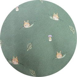 Ghibli - Totoro & Sho Totoro - Necktie - Silk - Jacquard - sail on leaf - green -2007-1left(new)
