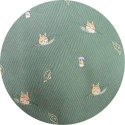 Ghibli - Totoro & Sho Totoro - Necktie - Silk - Jacquard - sail on leaf - green -2007-1left(new)