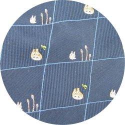 Ghibli - Totoro & Sho Totoro - Necktie - Silk - Jacquard - horsetail - navy - 2007 (new)