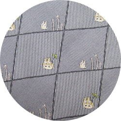 Ghibli - Totoro & Sho Totoro - Necktie - Silk - Jacquard - horsetail - gray - 2007 - 1 left (new)