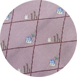 Ghibli - Totoro & Sho Totoro - Necktie - Silk - Jacquard - horsetail - pink - 2007 (new)