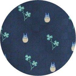 Ghibli - Totoro - Necktie - Silk - Jacquard Weaving - clover - navy - 2007 (new)