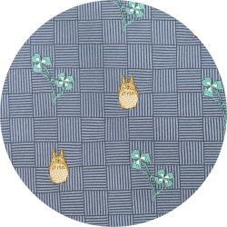 Ghibli - Totoro - Necktie - Silk - Jacquard Weaving - clover - blue - 2007 - 2 left (new)