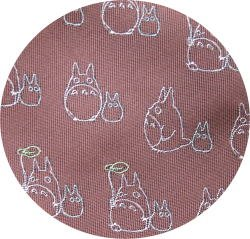 Ghibli - Chu & Sho Totoro - Necktie - Silk - Jacquard - umbrella - rose - 2007 (new)