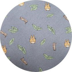 Ghibli - Chu Totoro - Necktie - Silk - Jacquard Weaving - leaf & branch - gray - 2007- 1 left (new)