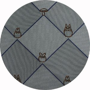 Ghibli - Totoro - Necktie - Silk - Jacquard Weaving - check - gray - SOLD OUT (new)