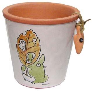 Ghibli - Totoro & Makkuro Kurosuke - Planter Pot (S) - Shovel - Ceramics - 2007 (new)
