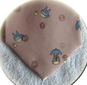 Ghibli - Totoro & Chu & Sho & Kurosuke - Necktie - Silk - Jacquard -pink -2007- SOLD OUT (new)