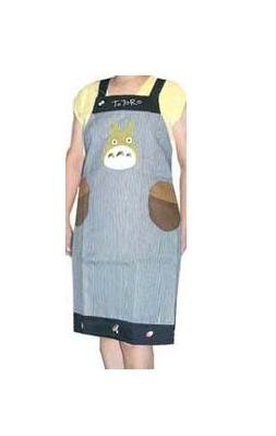 1 left - Apron - Applique - Totoro & Kurosuke & Acorn - Ghibli - out of production (new)