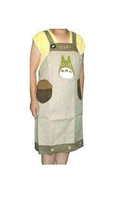 Ghibli - Totoro & Kurosuke & Acorn - Apron - green - out of production - VERY RARE (new)