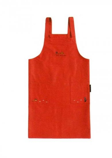 Ghibli - Kiki's - Jiji & Bread & Broom - Embroidered - Apron - red - VERY RARE - only 2 left (new)