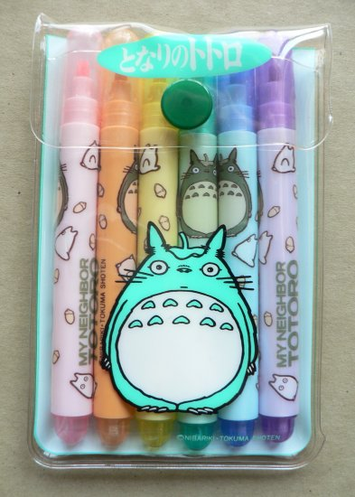 Ghibli - Totoro - 6 Color Markers Set - out of production -RARE - SOLD (new)