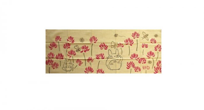 SOLD - Hand Towel / Tenugui - Dyed - Renge - Totoro - made Japan - no production (new)