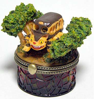 Ghibli - Totoro - Nekobus - Figurine & Stained Glass Case - VERY RARE - 1 left (new)