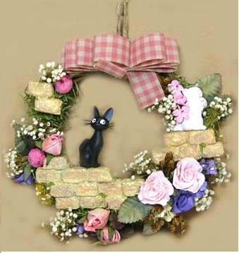 Ghibli - Kiki's - Jiji & Lily - Gardening Wreath - 2007 (new)