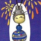 Mini Wind Chime - Strap - Natural Blue Agate - Bell - Totoro - Ghibli (new)