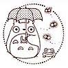 Ghibli - Totoro & Kurosuke & Frog - Rubber Stamp -Wooden Handle-made in Japan-outproduction(new)