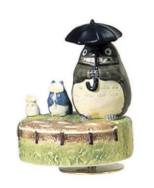 Ghibli - Totoro & Chu & Sho Totoro - Music Box - Rotary - Porcelain - dondoko (new)