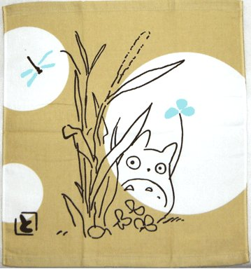Hand Towel - 34x36cm - akari - Totoro - Ghibli - 2007 (new)