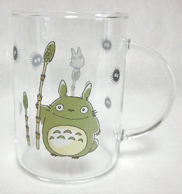 Mug Glass Cup - Heat-resisting - microwave -horsetail- Noritake - Totoro -2007- no production (new)