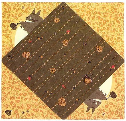 Ghibli - Totoro & Kurosuke - Cloth - 90x90cm - gift - 2007 - SOLD (new)
