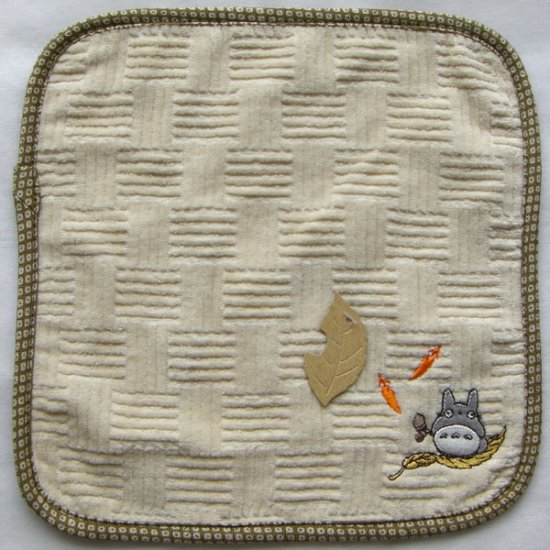 Ghibli - Totoro - Mini Towel - Embroidered - sail - brown - 2007 - SOLD OUT (new)
