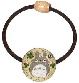 Ghibli - Totoro & Kurosuke - Hair Band - Ornament - weaved design - clover - 2007 - SOLD (new)