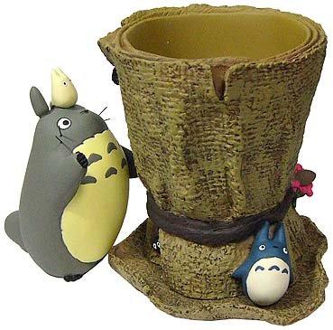 Ghibli - Totoro Figure + Chu & Sho Totoro & Kurosuke - Planter Pot & Water Tray - 2007 (new)