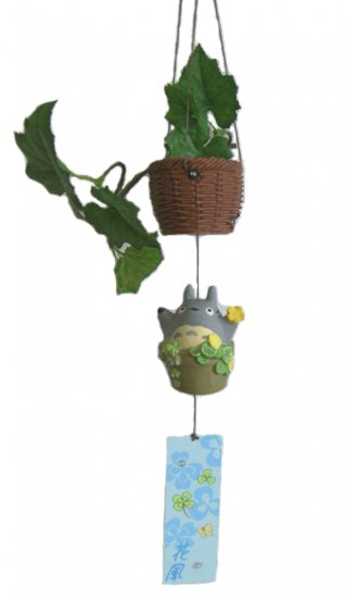 Ghibli - Totoro - Wind Chime & Basket - Ceramics - 2007-outofproduction - RARE - SOLD (new)