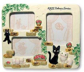 Ghibli - Kiki's Delivery Service - Jiji & Lily & Kids - Photo Frame Stand - Ceramics - 2007 (new)
