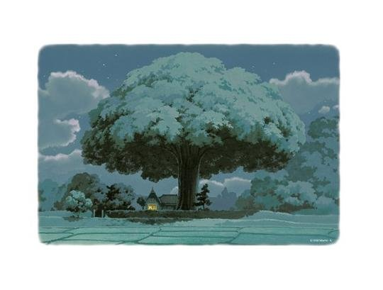300 pieces Jigsaw Puzzle - Oga Kazuo - yoru no gensou - House & Tree - Totoro - Ghibli (new)