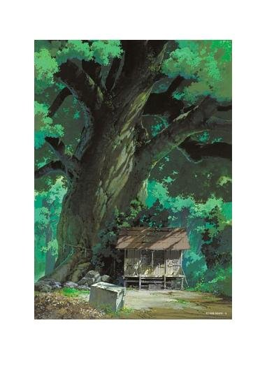 108 pieces Jigsaw Puzzle - Oga Kazuo - kusunoki to yashiro - Tree & Shrine - Totoro - Ghibli (new)
