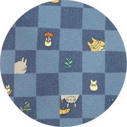 Ghibli - Totoro & Chu & Sho Totoro - Necktie - Silk - cube - blue - 2007 (new)