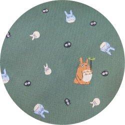 Ghibli - Totoro & Chu & Sho & Kurosuke - Necktie - Silk - Jacquard - green - 2007 - SOLD (new)
