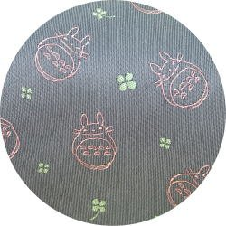 Ghibli - Totoro - Necktie - Silk - Jacquard Weaving - clover - gray - 2007 - RARE - 1 left (new)