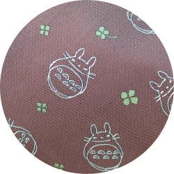 Ghibli - Totoro - Necktie - Silk - Jacquard Weaving - clover - rose - 2007 - RARE - 1 left (new)