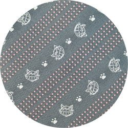 Necktie - Silk - Jacquard Weaving - gray - drawed nekobus -made in Japan- Totoro - 2007 (new)